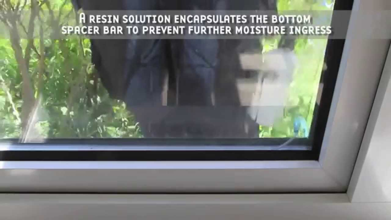 Condensation Removal From Double Glazed Windows Youtube