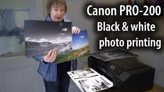 Black and white photo printing with the Canon Pixma PRO-200