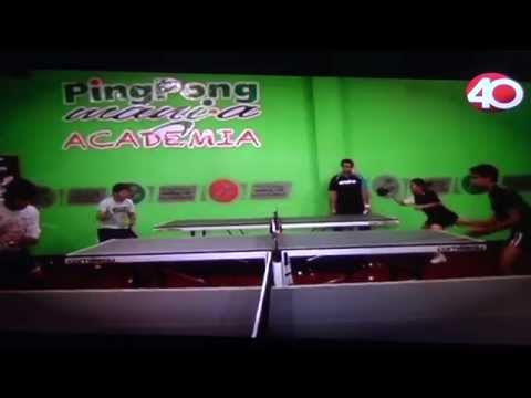 Academia Pingpongmania en Canal 40 Proyecto 40