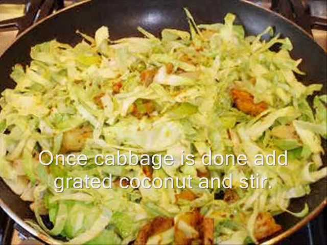 Cabbage Poriyal, Patta Gobhi Poriyal, Delicious Indian Curry Recipe