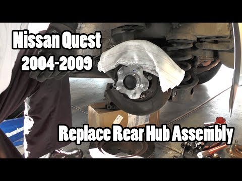 Nissan Quest Replace Rear Wheel Hub Assembly