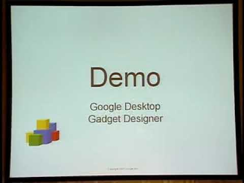 Google Developer Day Tokyo - Google Desktop Gadgets