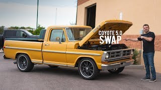 HOW FAST IS AN F100 COYOTE 5.0 SWAPPED?