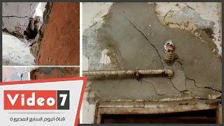 بالفيديو..كارثة تهدد بانهيار منازل سكان عزبة الصعايدة