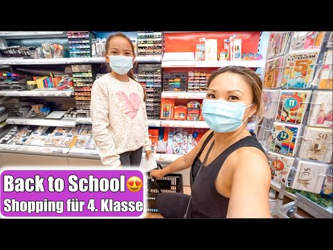 Back to School Haul 😍 Shopping Tag für 4. Klasse! Fidget Toys & Popits einkaufen VLOG | Mamiseelen