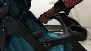 Cara melipat stroller Creative Baby Sierra
