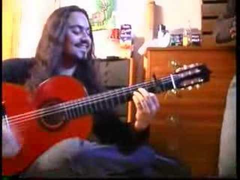 la guitarra de aluminio