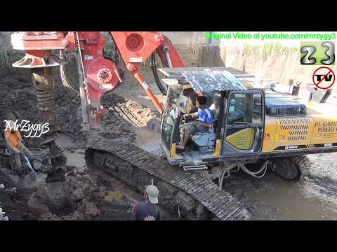 Bored Pile Construction Work Sany SR150C Drilling Rig