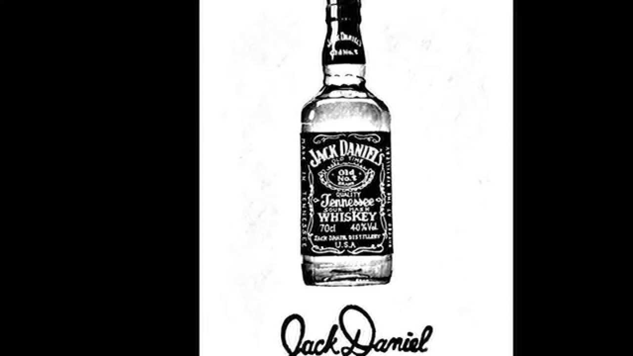 jack daniels bottle drawing - photo #23