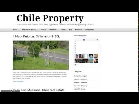 Chile Property - A Review of Real State Land in Chile, Agricultural and Engineering Services