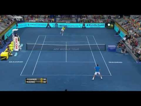 Roger Federer vs Milos Raonic ATP Mutua Madrid Open 2012 Highlights HD