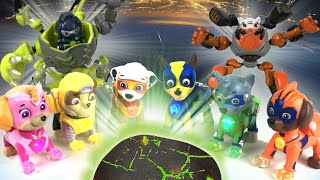 Paw Patrol Mighty Pups VS Romeo's Robots    Playtime with Keith's Toy Box