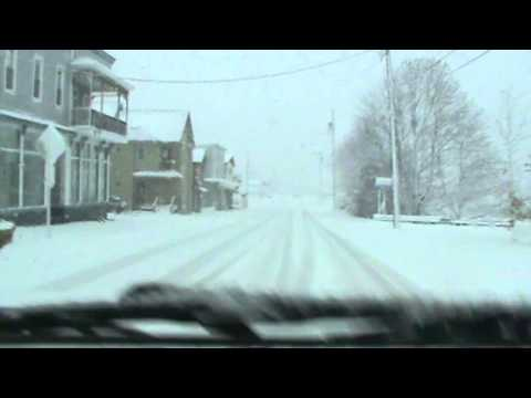 Davis, West Virginia - Hurricane Sandy - backside of storm - snow
