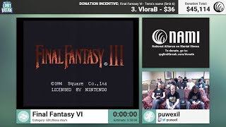 Final Fantasy VI (Glitchless) by puwexil and Essentia (RPG Limit Break 2016 Part 35)