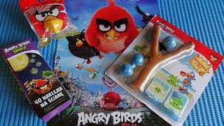 Angry Birds Magazines with Surprise Toys: Slingshot + Wall Stickers + Lip Pops Juguetes Sorpresa