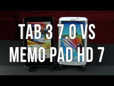 Samsung Galaxy Tab 3 7.0 vs Asus MeMO Pad HD 7 head to head comparison