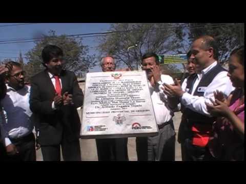 ALCALDE DE LA MUNICIPALIDAD PROVINCIAL DE AREQUIPA INAGURANDO MEJORAMIENTO VIAL AV VENEZUELA