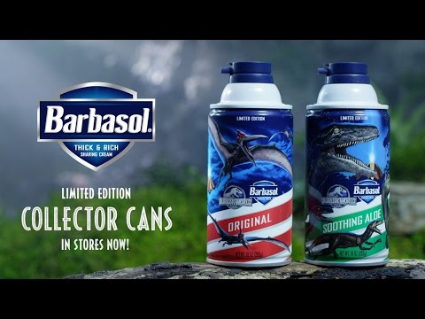 Jurassic World - Barbasol Collector Cans Commercial (HD)