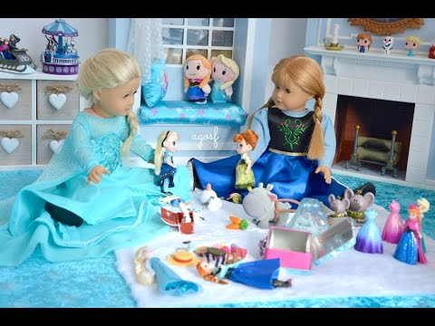 American Girl Doll Disney Frozen Elsa And Anna's Playroom ~ Hd Watch In Hd!