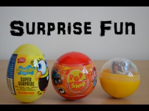 Spongebob Squarepants Surprise Egg Toys Review Opening Pop Shop (HD)