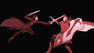 SAO] Kirito vs Heathcliff Duel (Feat : The World / ZA WARUDO)