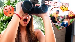 I SPIED ON MY BOYFRIEND IN PUBLIC!!! **I CAUGHT HIM**