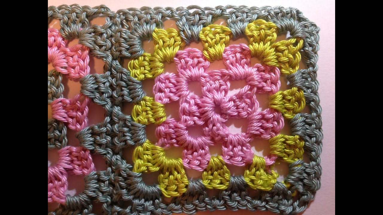 Crocheting Granny Squares For Beginners : Beginners Crochet Granny Square Part One. - YouTube