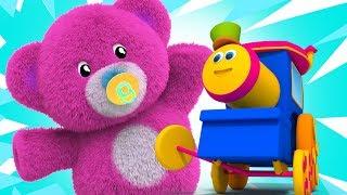 Bob o trem   ursinhos de pelúcia   canções para crianças   rima de berçário   Bob Teddy Bears