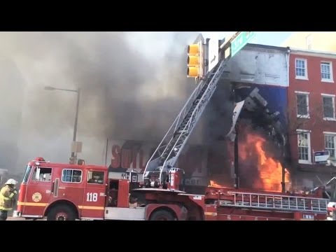 Huge Fire In Philly video
