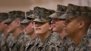 Woman marine makes history in infantry school