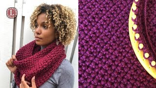 LOOM KNITTING Cowl Scarf The Purl in 8 Oversized Cowl Pattern Loomahat