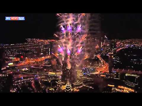 Dubai fireworks after winning Expo 2020