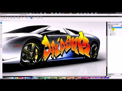 How to spray your name on a car with Corel PhotoPaint X5