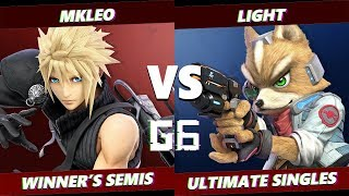 Glitch 6 SSBU -  FOX MVG | MKLeo (Ike, Cloud) VS  Light (Fox) Smash Ultimate Winner's Semis