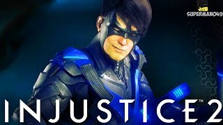 "THE EPIC NIGHTWING GEAR! AMAZING COMBO - Injustice 2 ""Robin"" Gameplay Playing With Subs!"