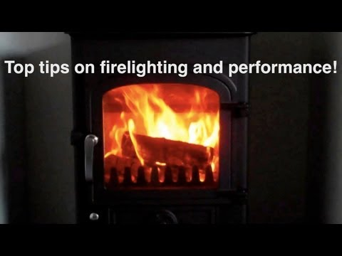 How to light the perfect fire in a wood burning stove! Using my special inverted V technique!