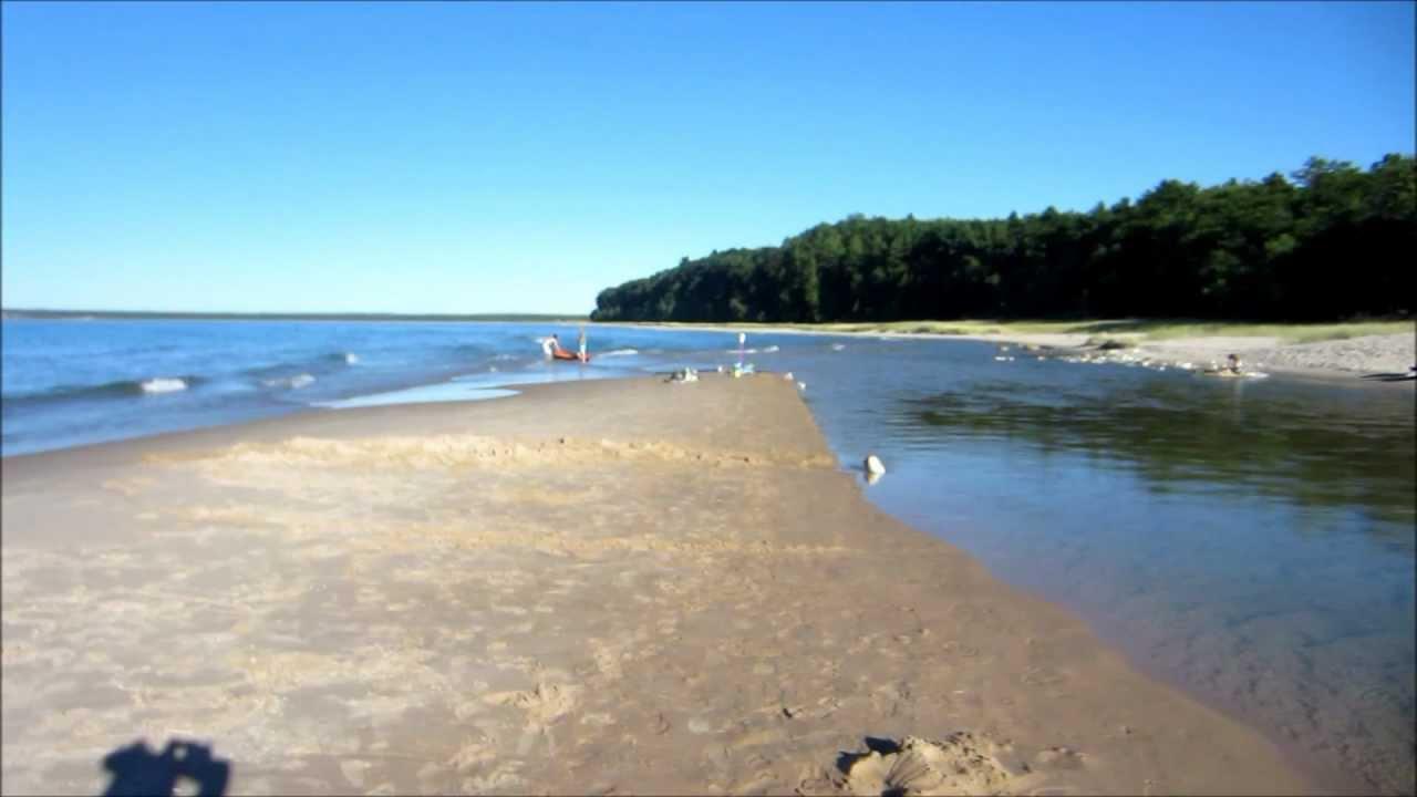 Where the platte river meets lake michigan youtube for Platte river michigan fishing