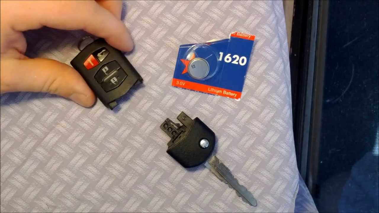 Key Fob Replacement >> How To Replace A Battery In A Mazda Key Fob - YouTube