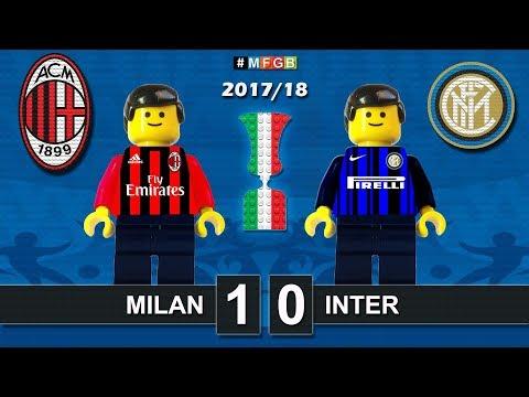 Milan Inter 1-0 • Derby Milano • TIM Cup 2018 (27/12/2017) goal highlights sintesi Lego Calcio