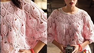 #13 Pineapple Stitch Dolman, Vogue Knitting Crochet 2013 Special Collector