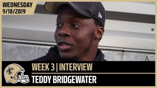 Teddy Bridgewater Focused Ahead of Week 3 at Seahawks | New Orleans Saints