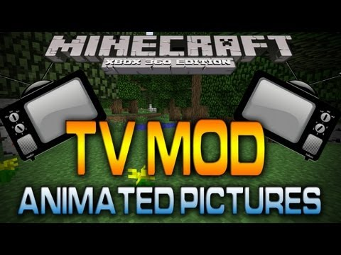 Minecraft (Xbox 360): TV MOD | CUSTOM ANIMATIONS (Map w/ Download)