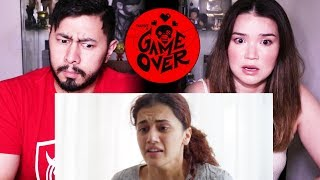 GAME OVER | Official Trailer Reaction by Jaby Koay and Achara | Taapsee Pannu | Ashwin Saravanan