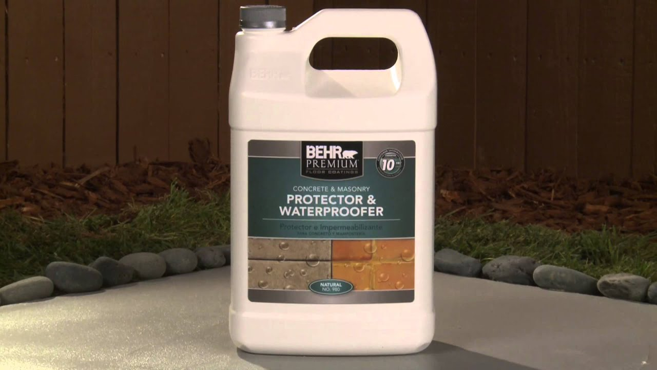 How To Apply Behr Premium Concrete Amp Masonry Protector