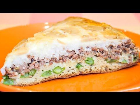 Заливной пирог с мясом, грибами и сыром – очень вкусный и необычный! Рецепт теста на кефире