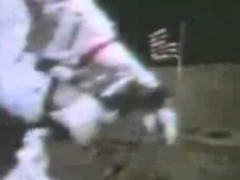 Apollo 16 - video artifact - flag movement Video