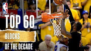 NBA's Top 60 Blocks Of The Decade | #Mobil1Blocks