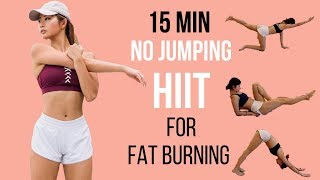 BEST 15 min Beginner Workout for Fat Burning (NO JUMPING HIIT!!!)