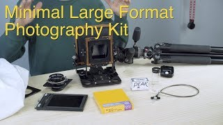 Minimal Large Format Photography Kit: Large Format