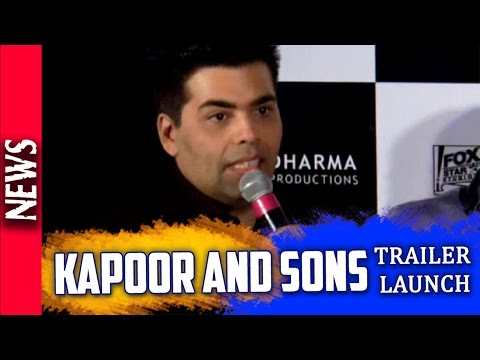 Latest Bollywood News - Cast Of Kapoor And Sons At The Trailer Launch - Bollywood Gossip 2015